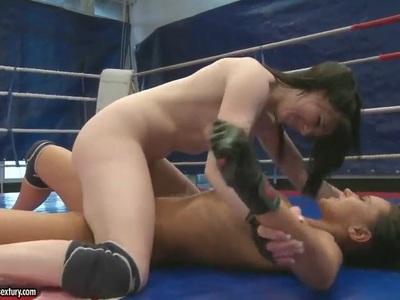 Angelica Kitten,  Samantha Bentley in nude fight scene