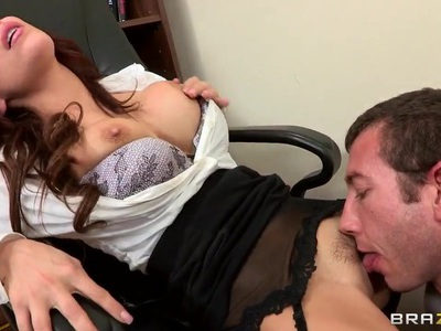 Fucking his boss Aleksa Nicole to get a raise
