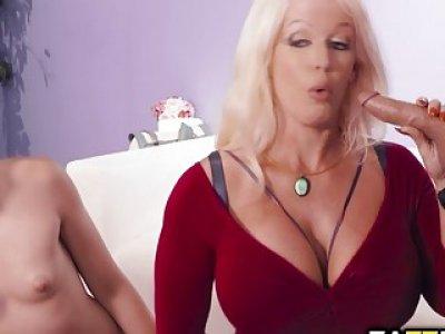 Avi Love deep throat blowjob Dylan Snows cock