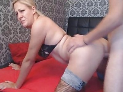 Blonde Babe Gets Her Pussy Pounded By His BF