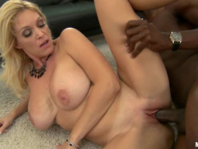 Sexy MILF Charlee Chase will be drilled by this black stick