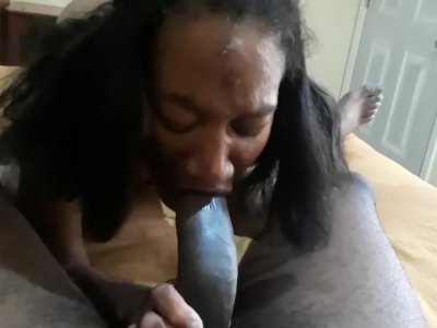 Thot in Texas Thot Pussy Job Cameltoe slide cumshot on shaved pussy 2 views