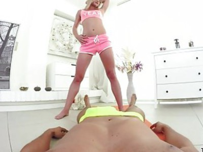 Hot Teen hardcore fuck after a yoga session
