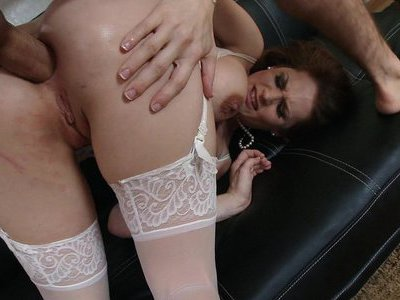 Allison Moore loves his stiff dick stretching her asshole