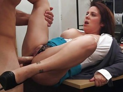 Busty milf pounded by nasty pawn dude