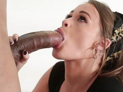 Small tits Kacy Lane boned by black dick
