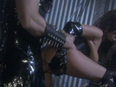 Gothic style threesome with Stephanie Swift and Michelle Avanti in the dark dungeon