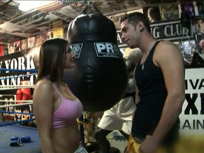Boxing fight ends up with facesitting on the ring for Austin Kincaid