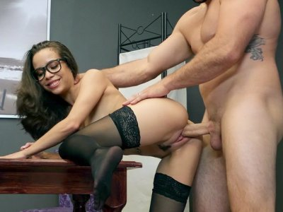 Lana Mars gets her pussy pounded by Jmac standing