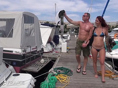 Boat day for a swinger couple with a man banging a young stunning blonde