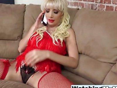 Blonde Milf Natasha Juja Bouncing On Black Dong
