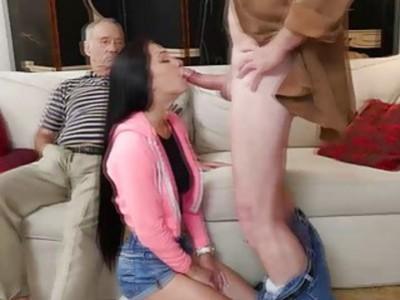Hot babe Crystal Rae got fucked hard by grandpa